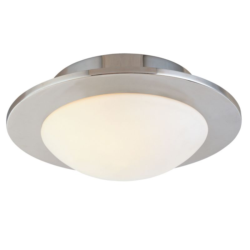 Sonneman 3713.35 Polished Nickel Contemporary Discus Ceiling Light