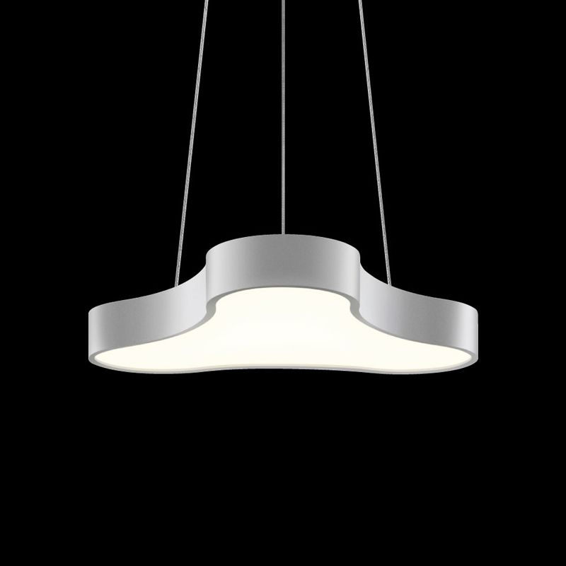 Sonneman 1730 Corso Rhythm 1 Light LED Pendant Bright Satin Aluminum