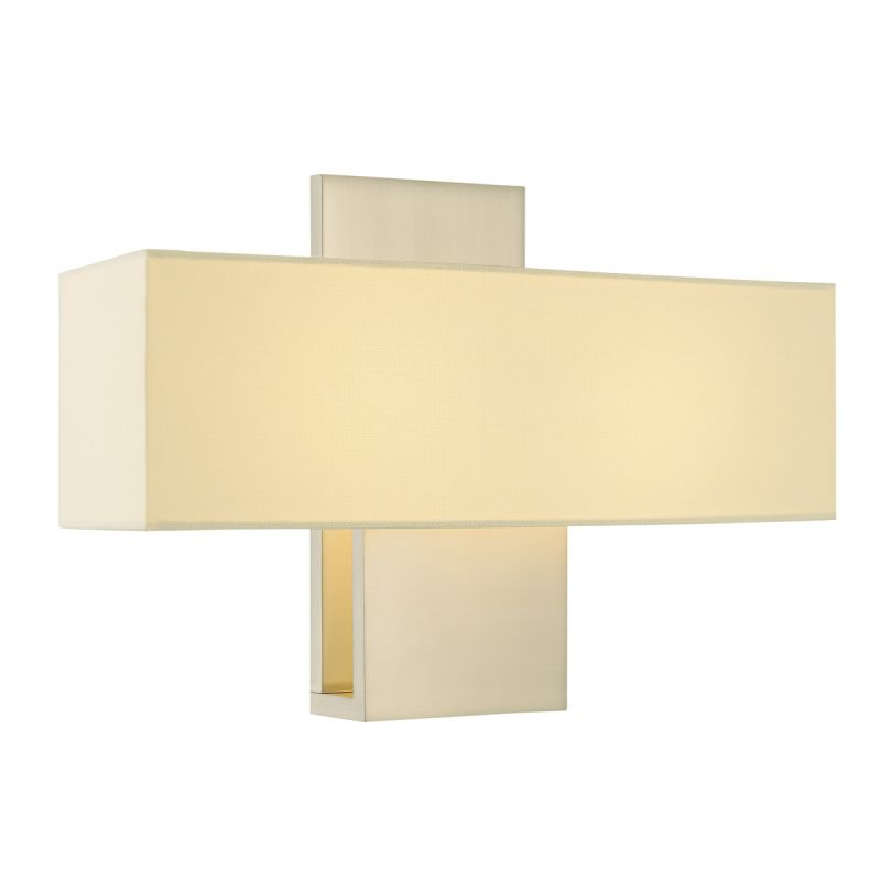 Sonneman 1861 Ombra 2 Light ADA Compliant Wall Sconce with Cream Linen