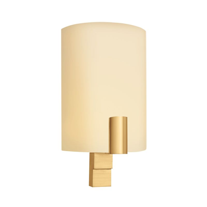 Half Lamp Shades Wall Sconces : Sonneman 1952.38F Satin Brass Demi Cylindre 1 Light CFL Wall Sconce with Half-Cylinder Glass ...