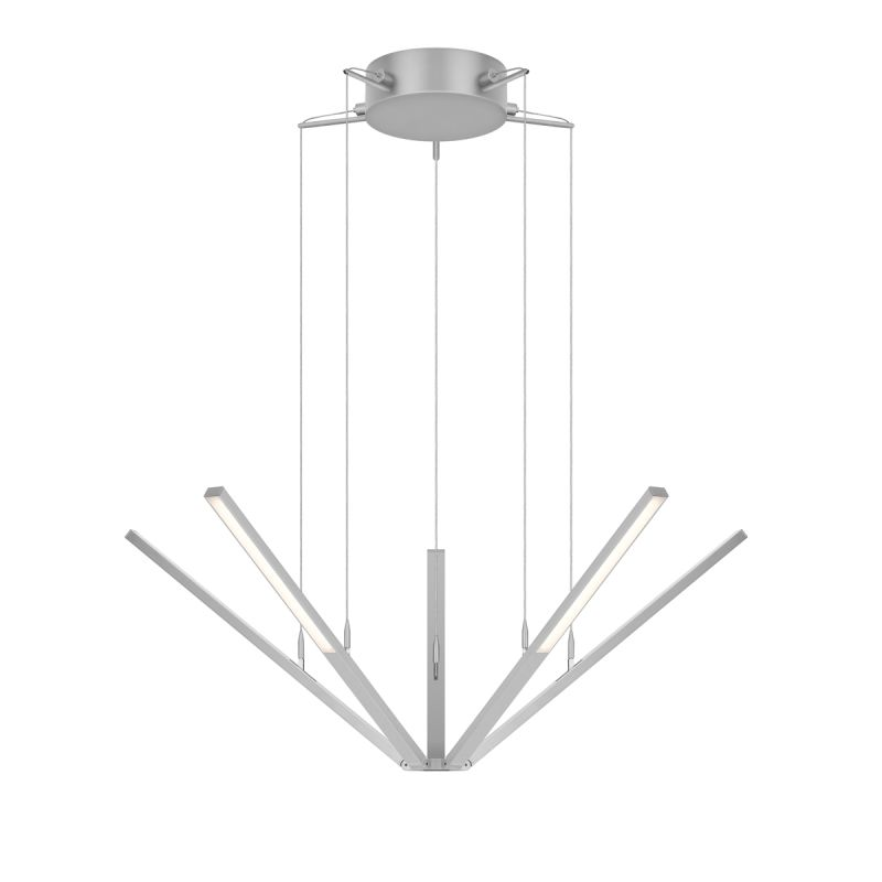 Sonneman 2300 Starflex 5 Light LED Pendant with Frosted Shade Bright