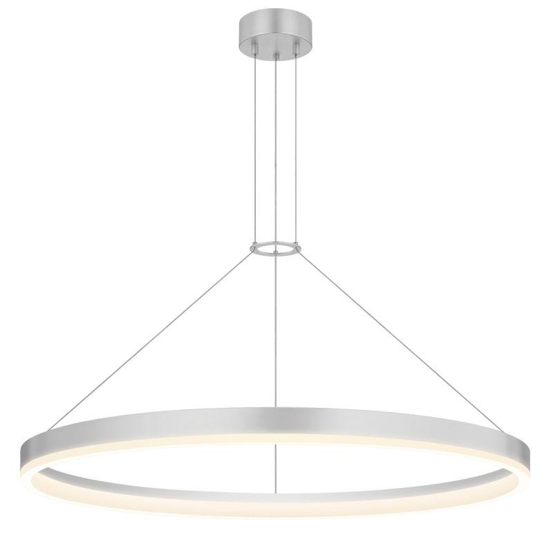 Sonneman 2317.16 Bright Satin Aluminum Contemporary Corona Pendant