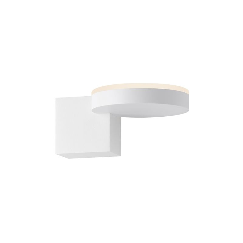 Sonneman 2360 Disc-Cube 1 Light LED Wall Sconce with Frosted Acrylic