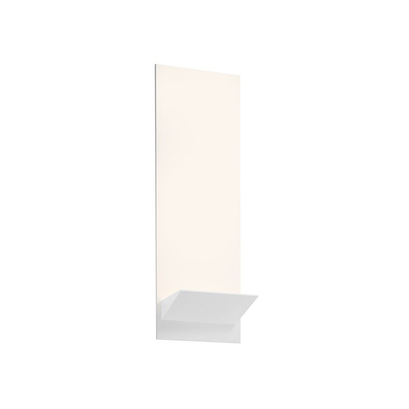 Sonneman 2371 Panel 1 Light LED Wall Sconce with Textured White Shade