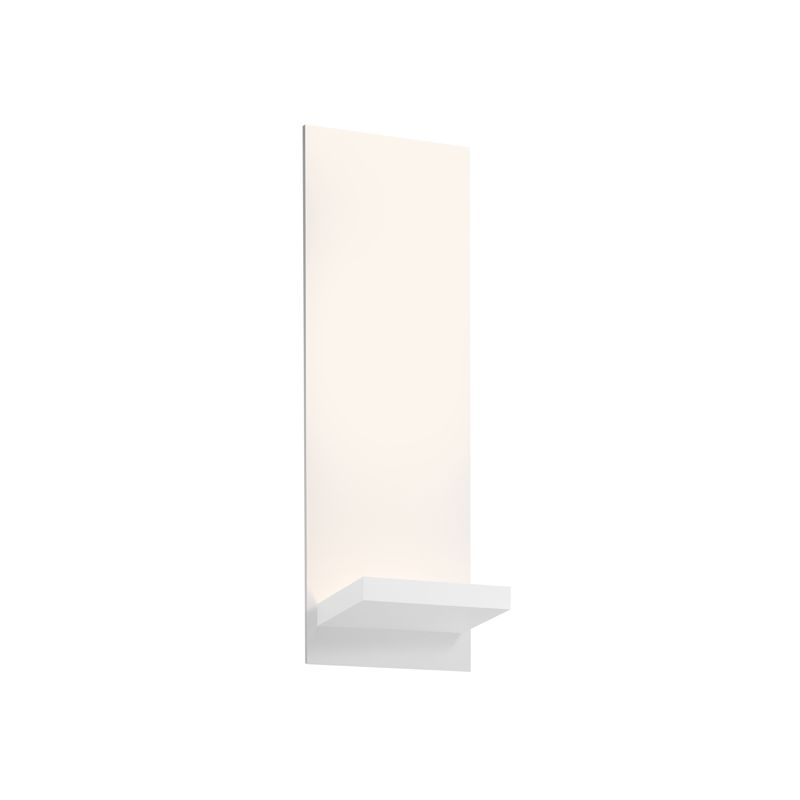 Sonneman 2373 Panel 1 Light LED Wall Sconce with Textured White Shade