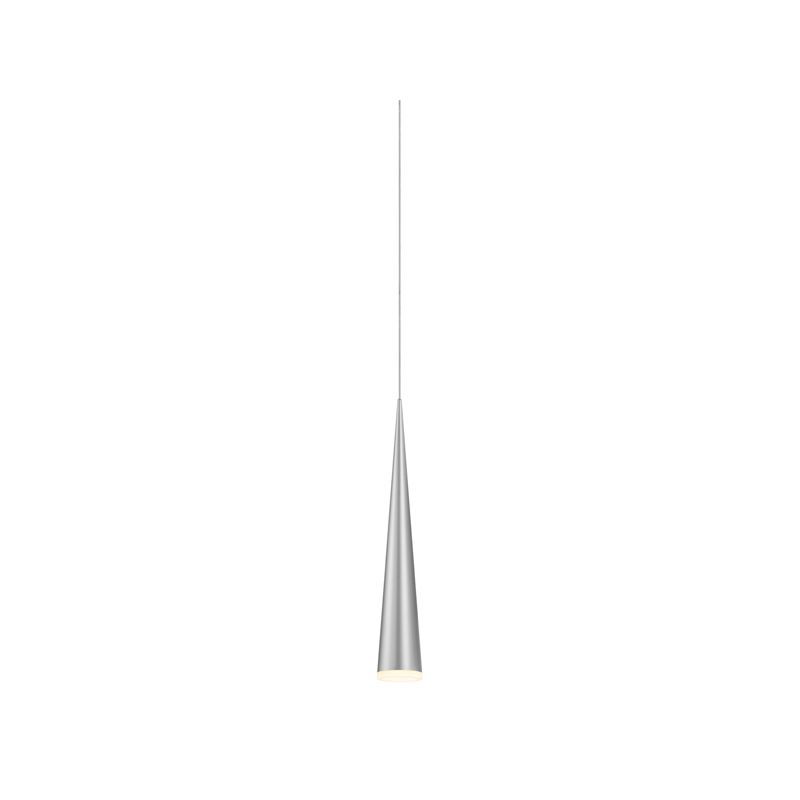 Sonneman 2380 Micro Cone 1 Light LED Pendant Bright Satin Aluminum