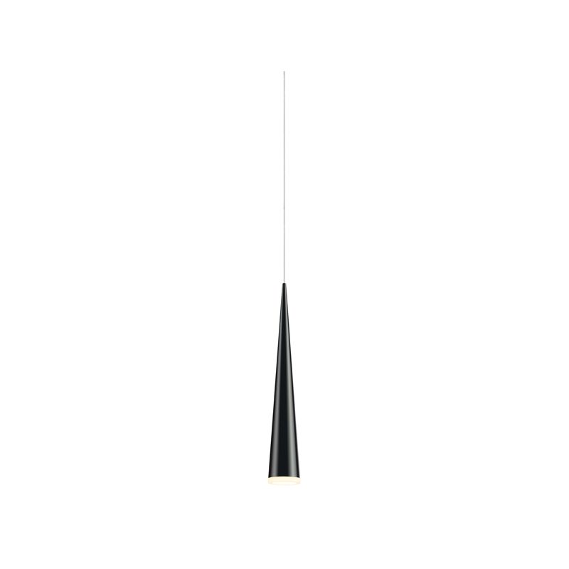 Sonneman 2380 Micro Cone 1 Light LED Pendant Satin Black Indoor