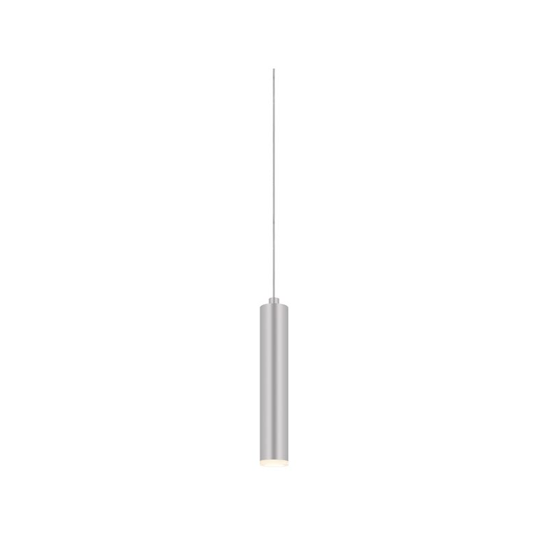 Sonneman 2390 Micro Tube 1 Light LED Pendant Bright Satin Aluminum