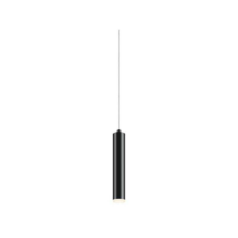 Sonneman 2390 Micro Tube 1 Light LED Pendant Satin Black Indoor