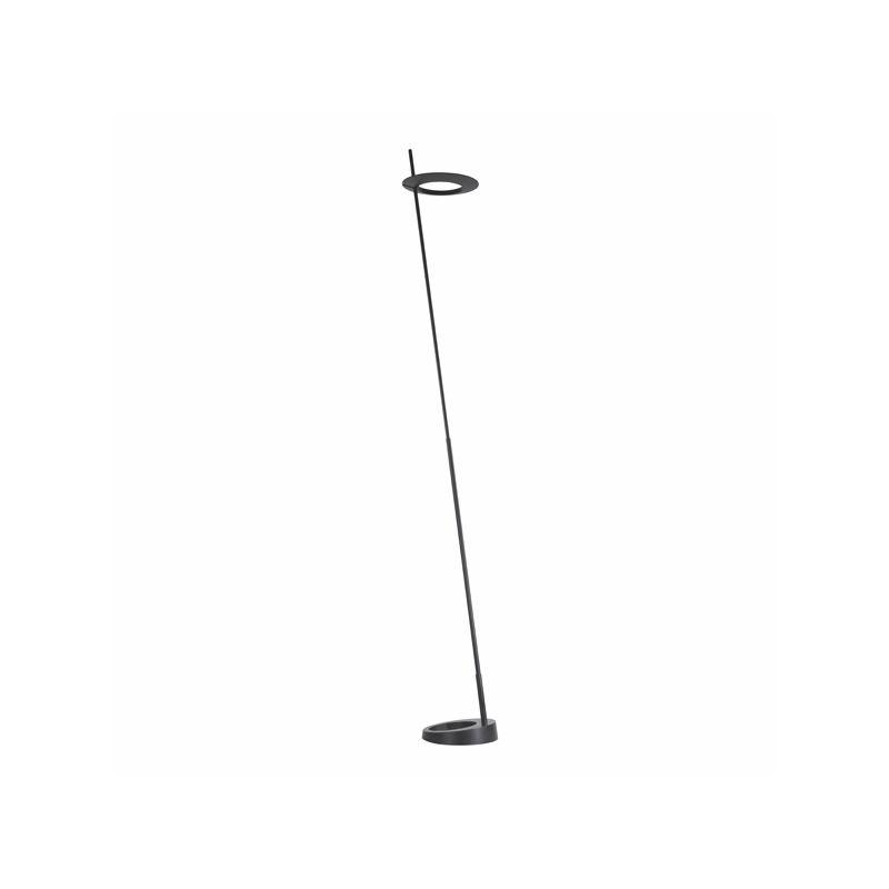 Sonneman 2415 Ringlo 1 Light LED Floor Lamp Satin Black Lamps Floor