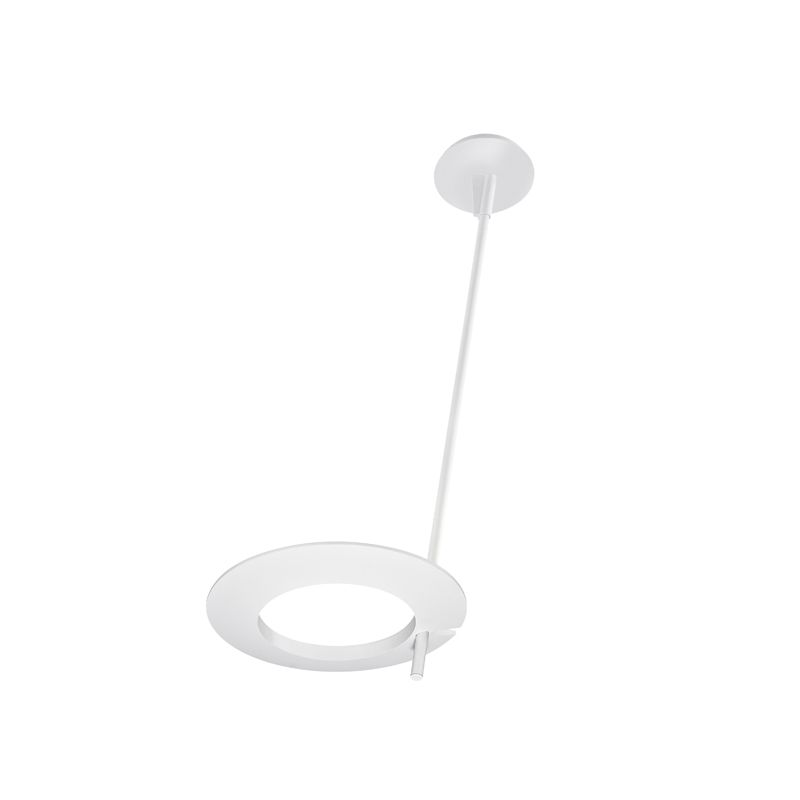 Sonneman 2418 Ringlo 1 Light LED Pendant Satin White Indoor Lighting