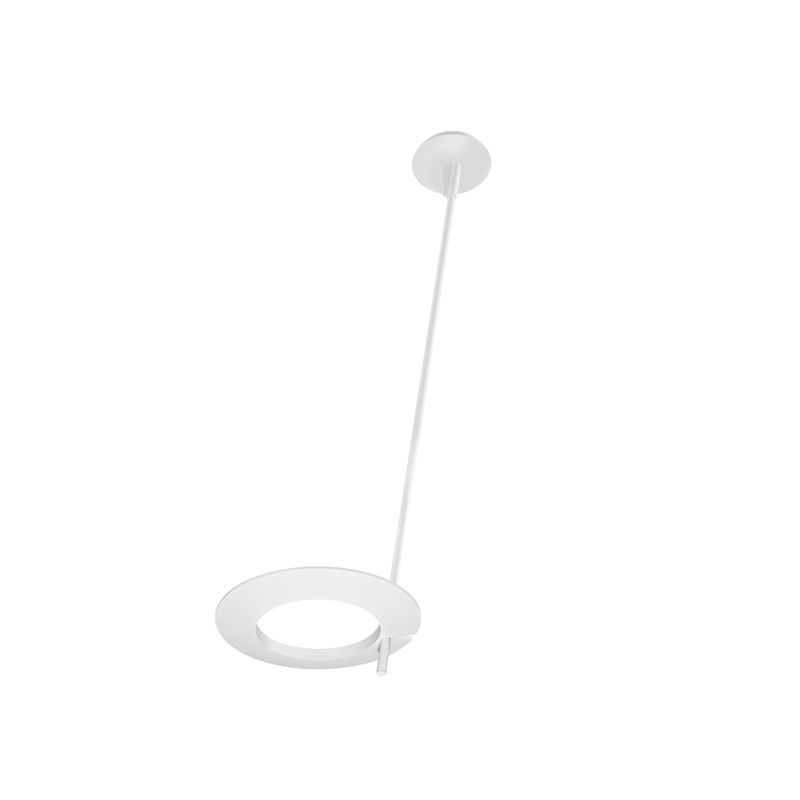 Sonneman 2419 Ringlo 1 Light LED Pendant Satin White Indoor Lighting