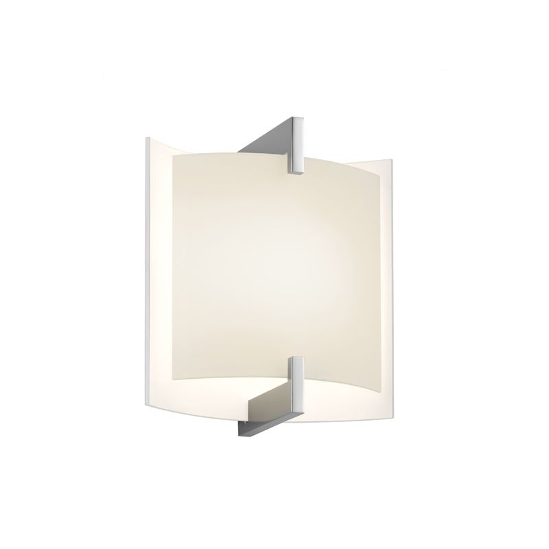Sonneman 2450 Double 1 Light ADA Compliant LED Wall Sconce with Etched