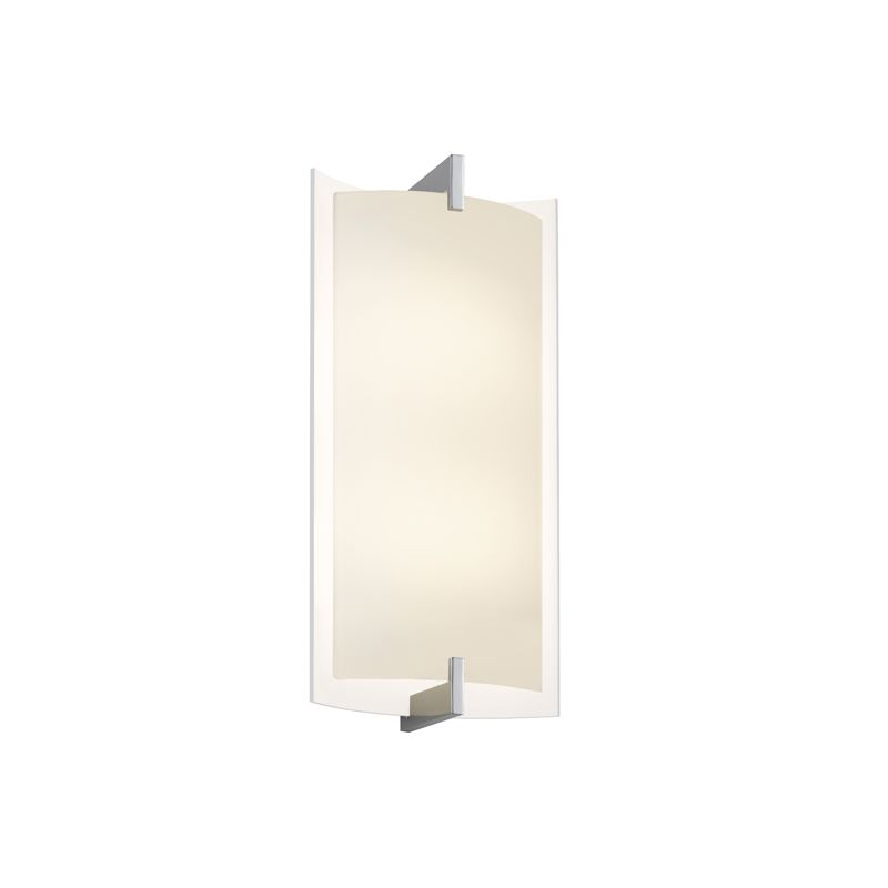 Sonneman 2452 Double 1 Light ADA Compliant LED Wall Sconce with Etched
