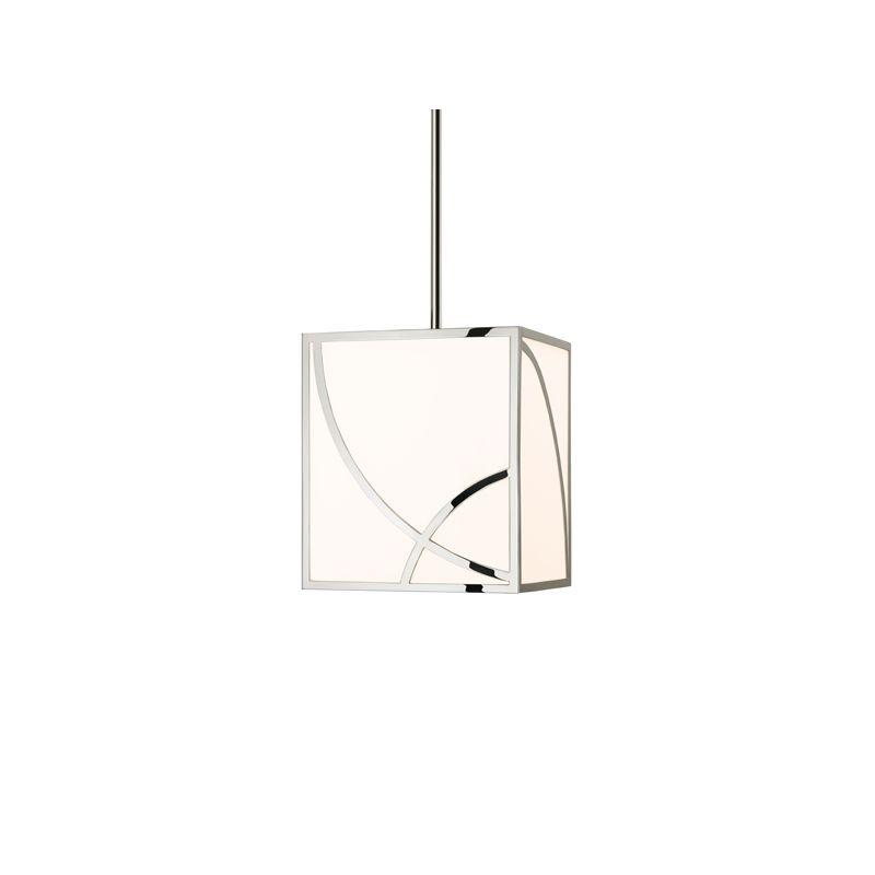 Sonneman 2535 Haiku 1 Light LED Pendant with White Shade Polished