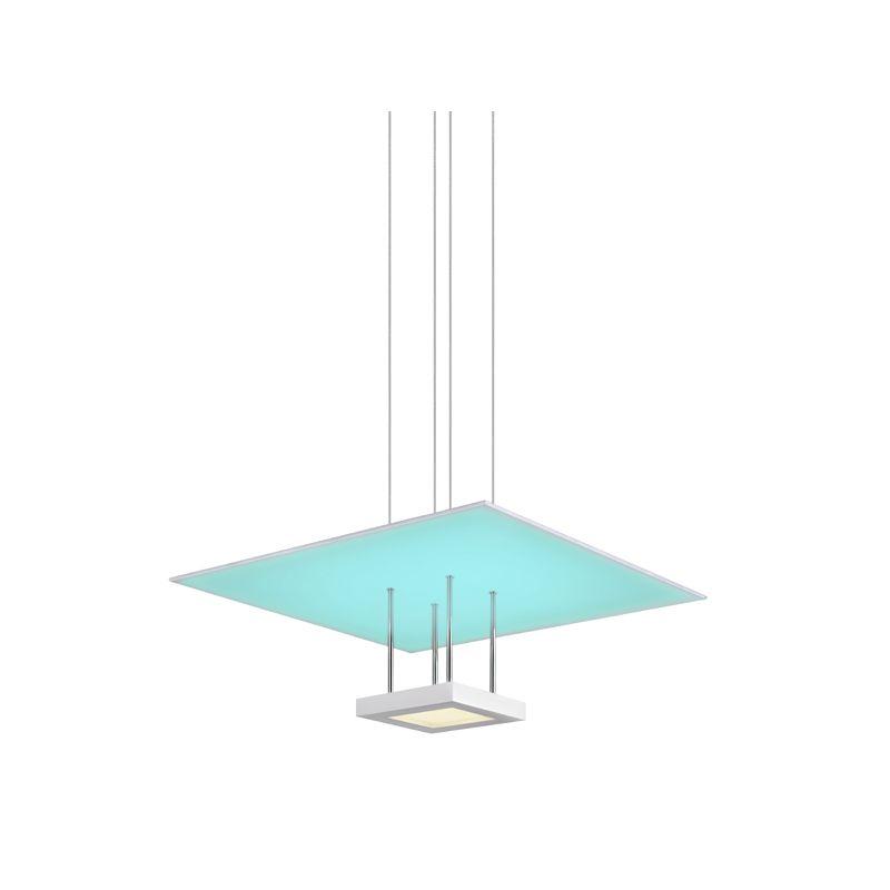 Sonneman 2602 Chromaglo Spectrum 1 Light LED Square Reflector Pendant