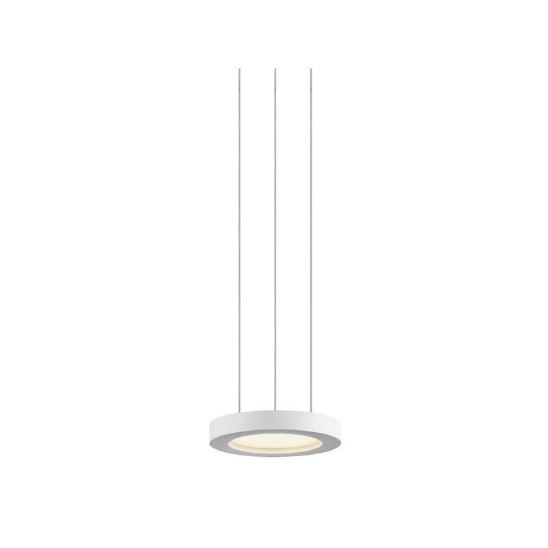 Sonneman 2605 Chromaglo Spectrum 1 Light LED Round Pendant Satin White