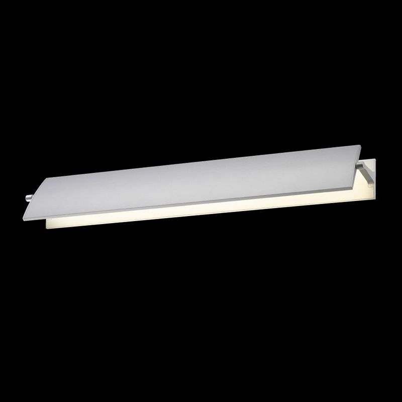 Sonneman 2702 Aileron 1 Light LED Wall Sconce Bright Satin Aluminum