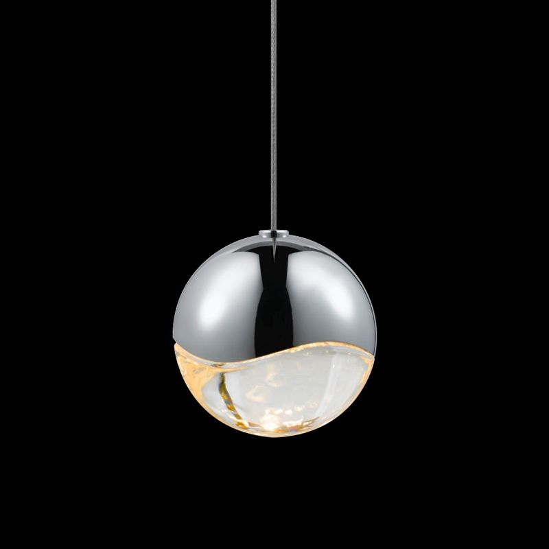 """Sonneman 2912-MED Grapes 1 Light LED Pendant Polished Chrome Indoor Sale $310.00 ITEM: bci2655376 ID#:2912.01-MED UPC: 872681062741 Features: Glass globe shade Designed to cast a soft ambient light over a wide area Capable of being dimmed - allowing you to set your desired illumination levels when used with dimmable bulbs Includes 120"""" of cord ETL Listed for Dry Location Requires (1) 4 watt LED bulb (Included) Lamping Technology: LED - Light Emitting Diode: Highly efficient integrated diodes produce little heat and have an extremely long lifespan. Dimensions: Height: 3.25"""" (measured from ceiling to bottom most point of fixture) Width: 3.25"""" (measured from furthest point left to furthest point right on fixture) Shade Diameter: 3.25"""" Electrical Specifications: Bulb Included: Yes Bulb Type: LED Number of Bulbs: 1 Watts Per Bulb: 4 Wattage: 4 Voltage: 120v Compliance: ETL Listed - Indicates whether a product meets standards and compliance guidelines set by Nationally Recognized Testing Laboratory(NRTL). This listing determines what types of rooms or environments a product can be used in safely. :"""