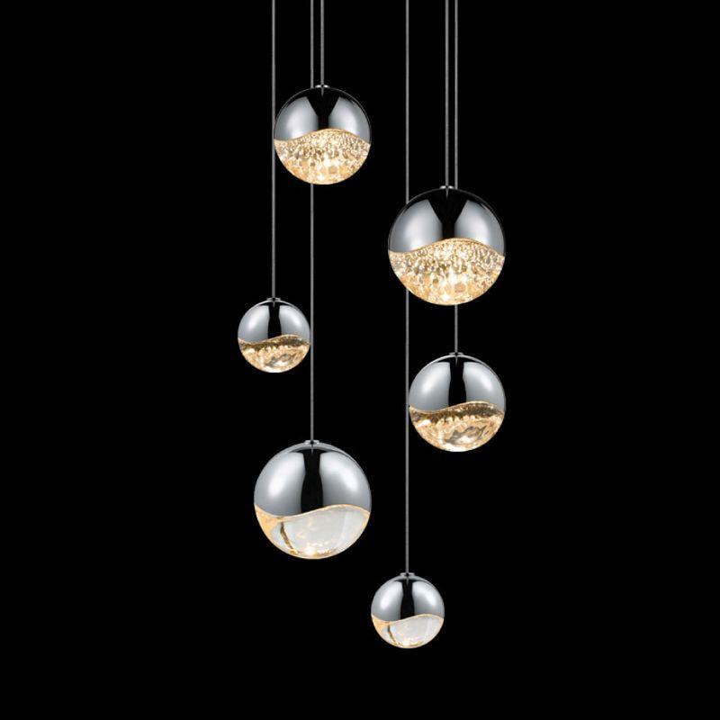 Sonneman 2915-AST Grapes 6 Light LED Pendant Polished Chrome Indoor Sale $1390.00 ITEM: bci2655395 ID#:2915.01-AST UPC: 872681062932 :