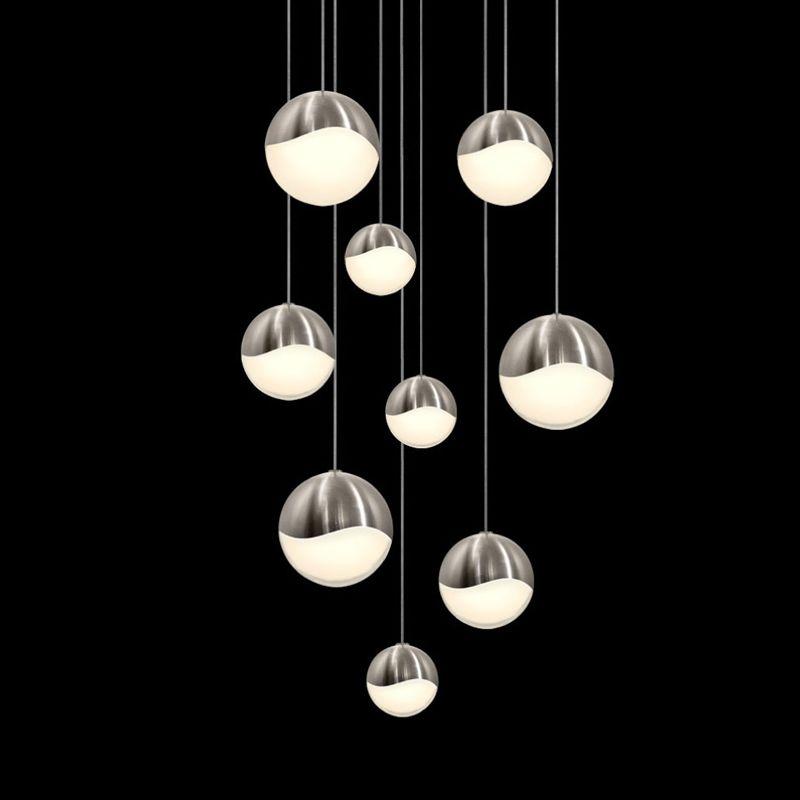 Sonneman 2916-AST Grapes 9 Light LED Pendant Satin Nickel Indoor Sale $2200.00 ITEM: bci2655407 ID#:2916.13-AST UPC: 872681063069 :