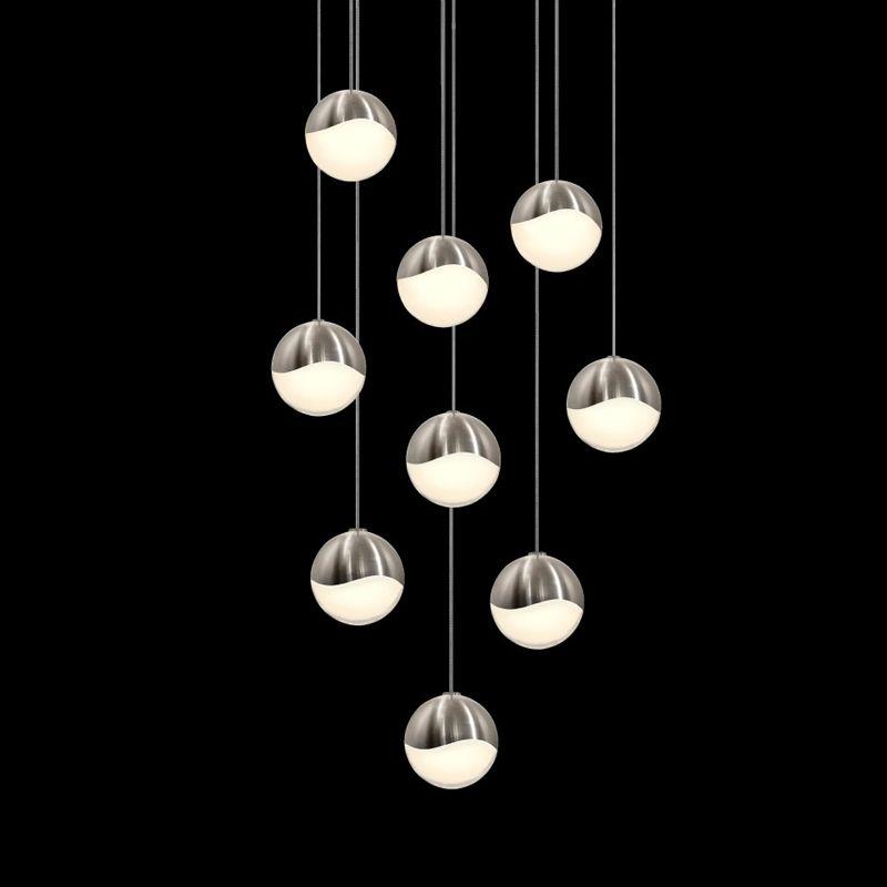 Sonneman 2916-LRG Grapes 9 Light LED Pendant Satin Nickel Indoor Sale $2500.00 ITEM: bci2655408 ID#:2916.13-LRG UPC: 872681063076 :
