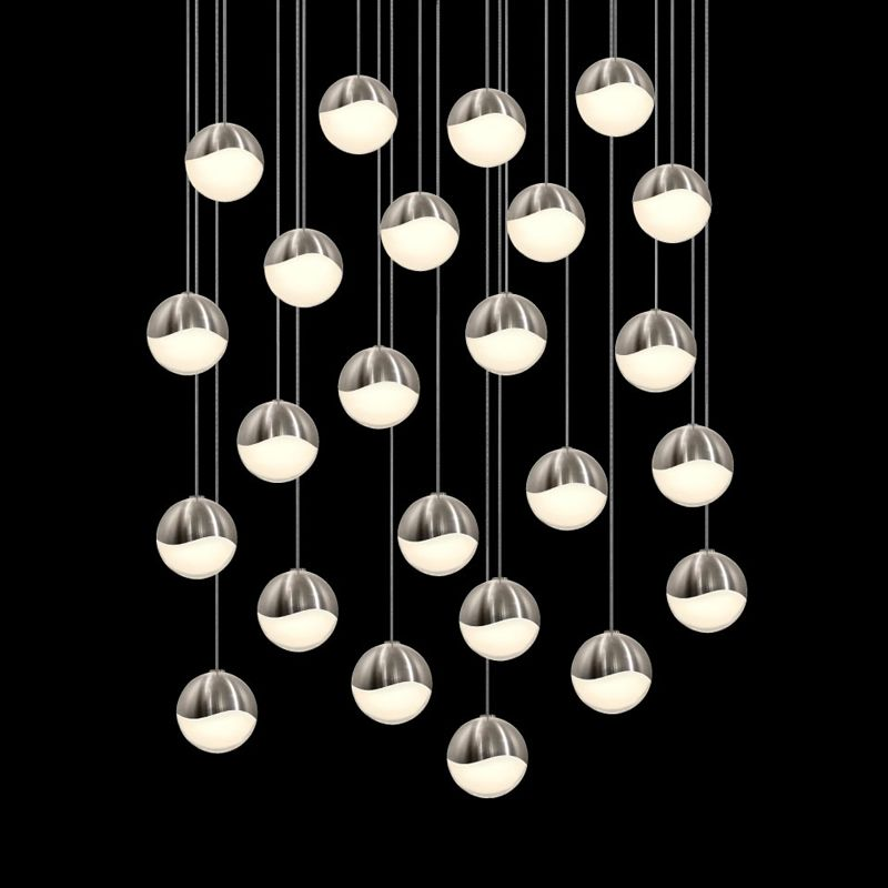 Sonneman 2918-LRG Grapes 24 Light LED Pendant Satin Nickel Indoor Sale $7000.00 ITEM: bci2655424 ID#:2918.13-LRG UPC: 872681063236 :
