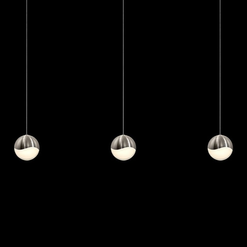 Sonneman 2920-LRG Grapes 3 Light LED Pendant Satin Nickel Indoor Sale $1150.00 ITEM: bci2655430 ID#:2920.13-LRG UPC: 872681063298 :