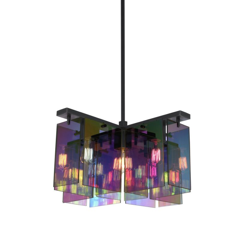 Sonneman 3175.51 Black Brass Contemporary Dichroix Pendant