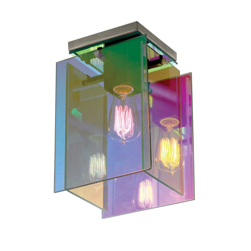 Sonneman 3177.13 Satin Nickel Contemporary Dichroix Ceiling Light