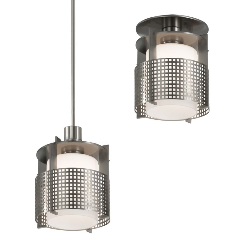Sonneman 3432.13 Pool 1 Light Pendant Metal Grid Shade Indoor Lighting