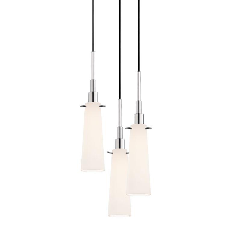 Sonneman 3553-3 Candela 3 Light Pendant with White Shade Polished Sale $580.00 ITEM: bci2276634 ID#:3553.01-3 UPC: 872681049681 :
