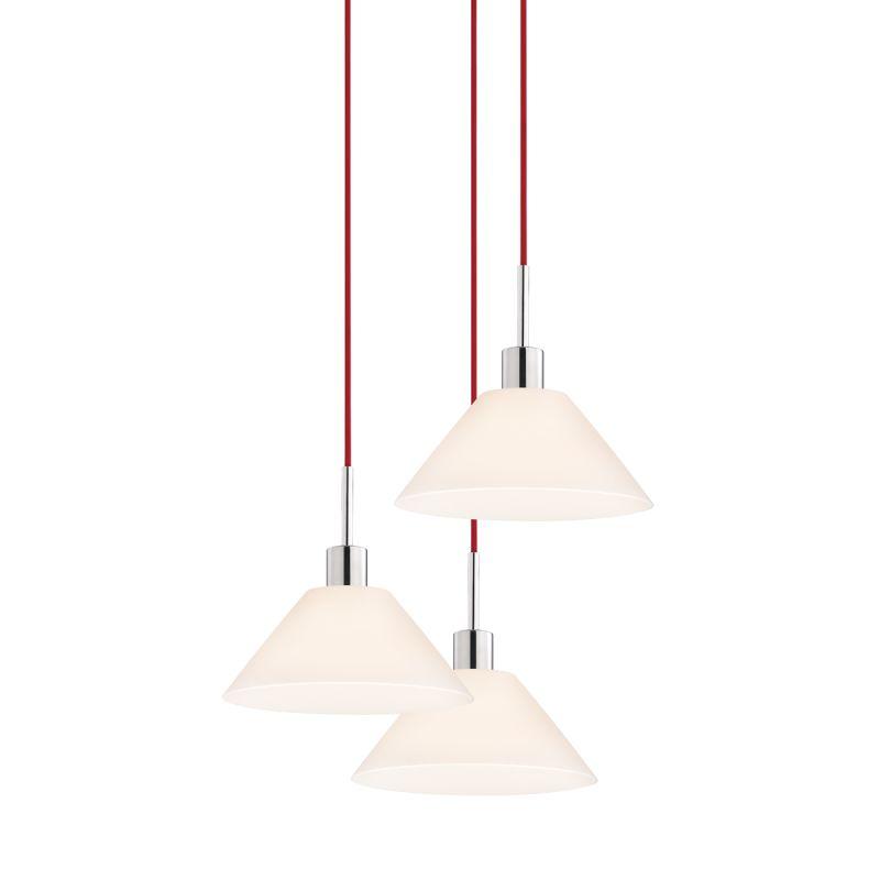 Sonneman 3563-3 Glass Pendants 3 Light Pendant with White Shade