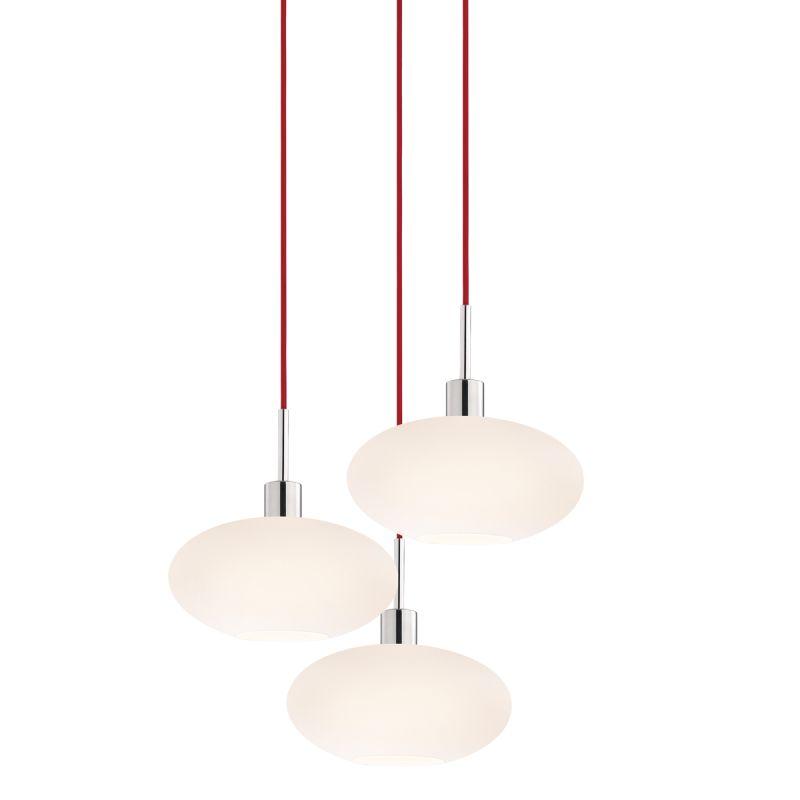 Sonneman 3566-3 Glass Pendants 3 Light Pendant with White Shade Sale $920.00 ITEM: bci2276677 ID#:3566.01R-3 UPC: 872681050175 :