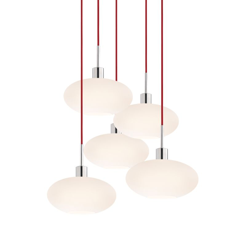 Sonneman 3566-5 Glass Pendants 5 Light Pendant with White Shade Sale $1650.00 ITEM: bci2276679 ID#:3566.01R-5 UPC: 872681050199 :