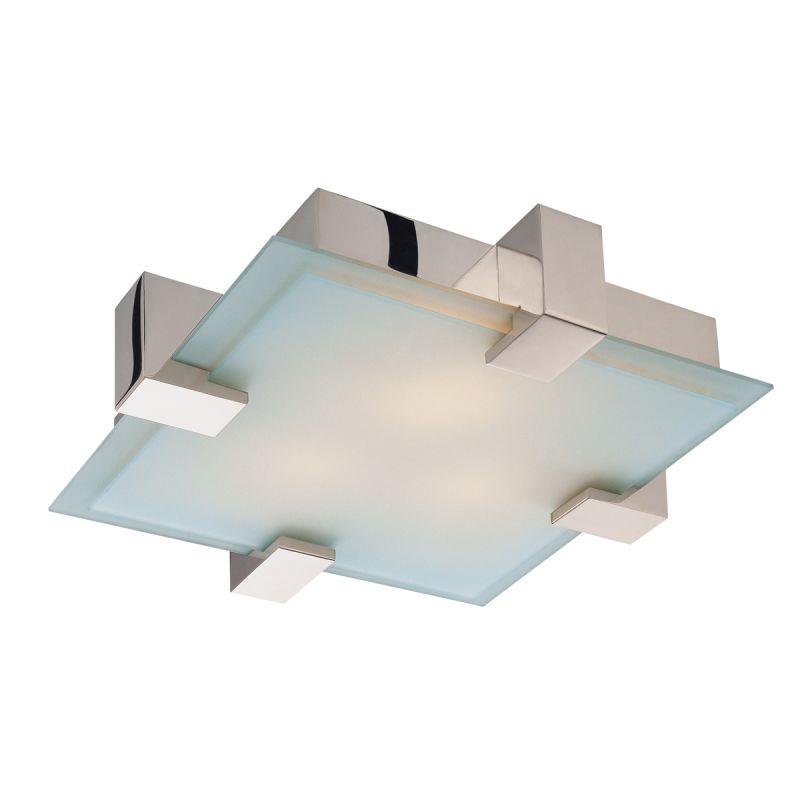Sonneman 3680F Dakota 2 Light Flushmount Ceiling Fixture with Etched