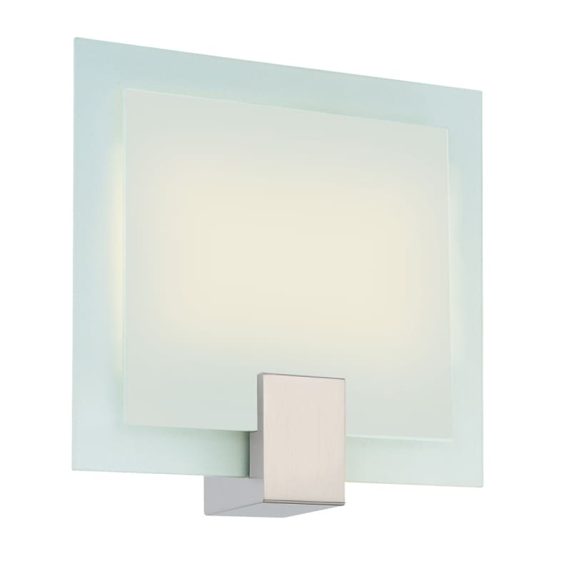 Sonneman 3682.13F Satin Nickel Contemporary Dakota Wall Sconce