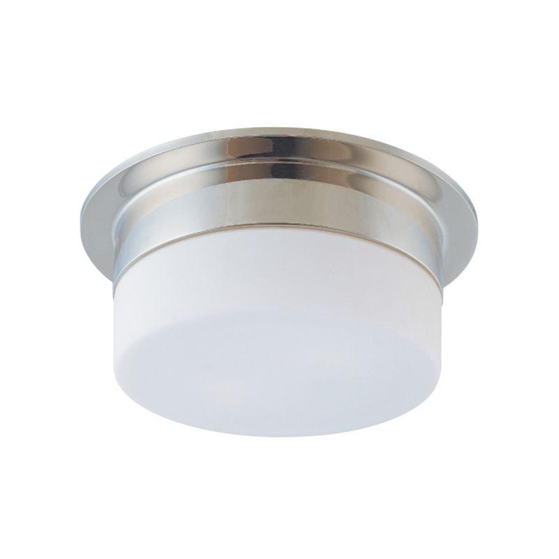 Sonneman 3741 Flange 1 Light Flushmount Ceiling Fixture with Etched