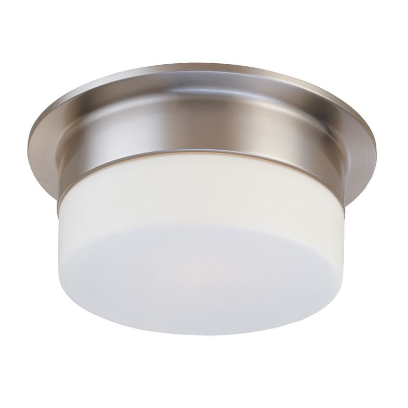 Sonneman 3742 Flange 2 Light Flushmount Ceiling Fixture with Etched