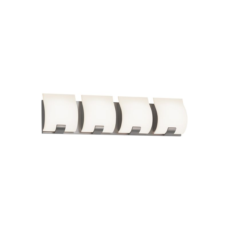 "Sonneman 3884LED Aquo 4 Light ADA Compliant LED Bathroom Vanity Strip Sale $790.00 ITEM: bci2406287 ID#:3884.13LED UPC: 872681055699 Features: White Etched Glass Shade ETL Rated for Damp Locations Dimmable by Electronic Low Voltage (ELV) Lamping Technology: LED - Light Emitting Diode: Highly efficient integrated diodes produce little heat and have an extremely long lifespan. Compliance: ETL Listed - Indicates whether a product meets standards and compliance guidelines set by Nationally Recognized Testing Laboratory(NRTL). This listing determines what types of rooms or environments a product can be used in safely. Specifications: ADA: Yes Backplate Height: 5.25"" Backplate Width: 23.5"" Bulb Included: Yes Bulb Type: LED Color Rendering Index (CRI): 80 Color Temperature: 3000K Dimmable: Yes Energy Star: No ETL Listed: Yes ETL Rating: Damp Location Extension: 3"" (measured from mounting surface to furthest protruding point on fixture) Full Backplate: Yes Height: 6.25"" LED: Yes Light Direction: Ambient Lighting Lumens: 1440 Material: Other Metals Number of Bulbs: 4 Product Weight: 12.4 lbs :"