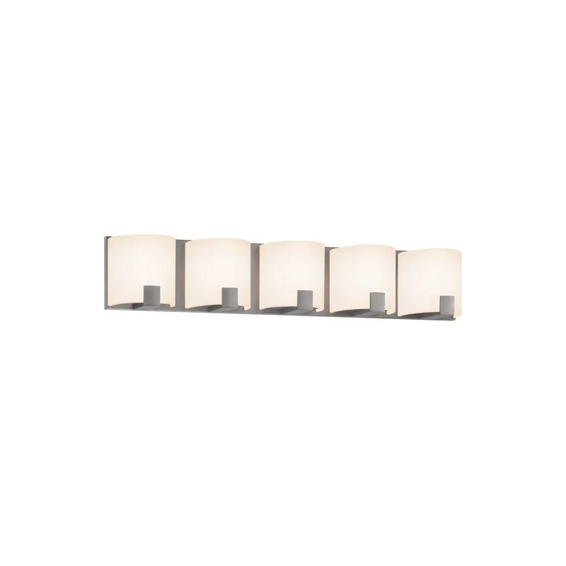 Sonneman 3895LED C-Shell 5 Light ADA Compliant LED Bathroom Vanity