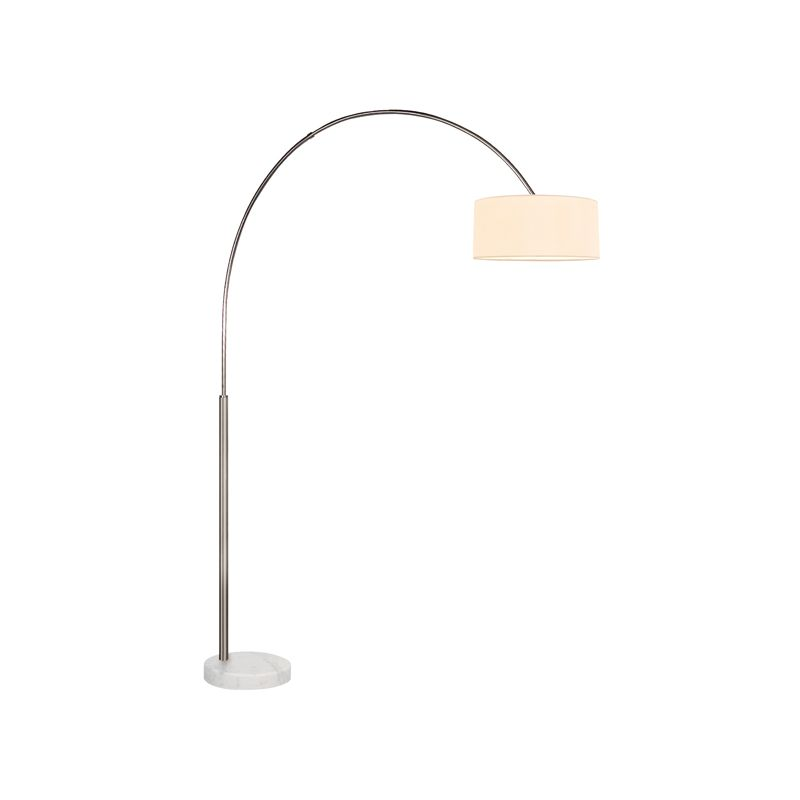 Sonneman 4097W Arc Shade 1 Light Floor Lamp with Cream Shade Satin Sale $590.00 ITEM: bci2406320 ID#:4097.13W UPC: 872681057150 :