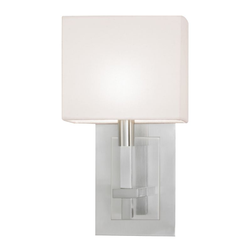 Sonneman 4435 Montana 1 Light Wall Sconce with White Linen Shade Satin