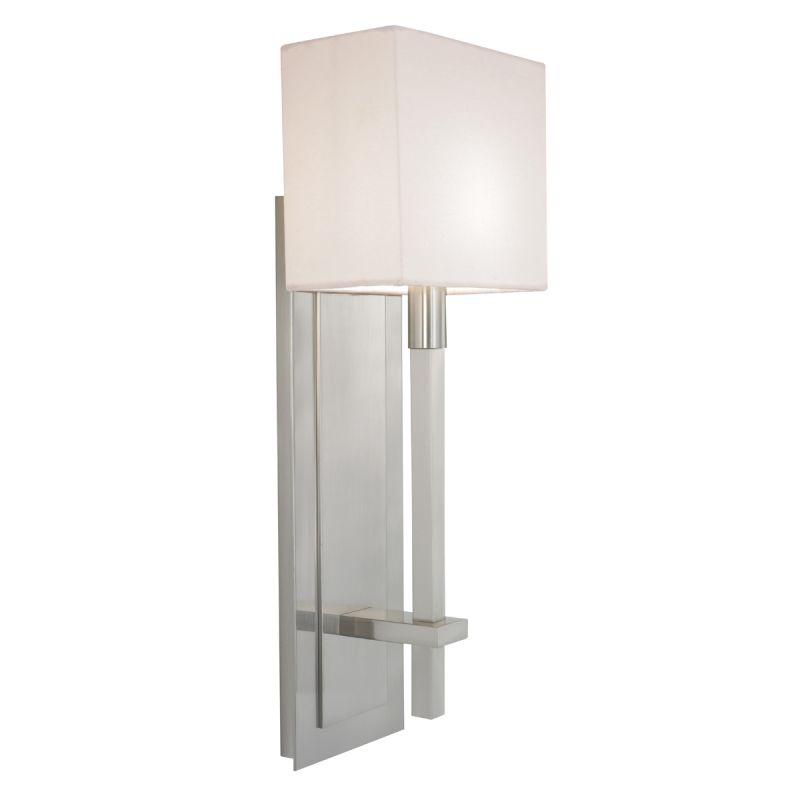 Sonneman 4436 Montana 1 Light Wall Sconce with White Linen Shade Satin