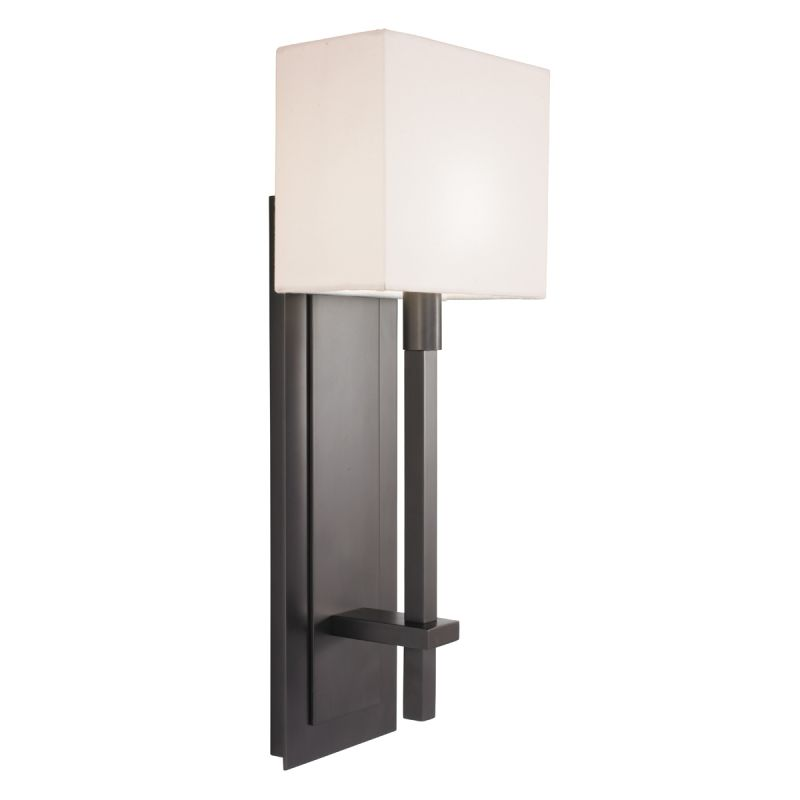 Sonneman 4436 Montana 1 Light Wall Sconce with White Linen Shade Black