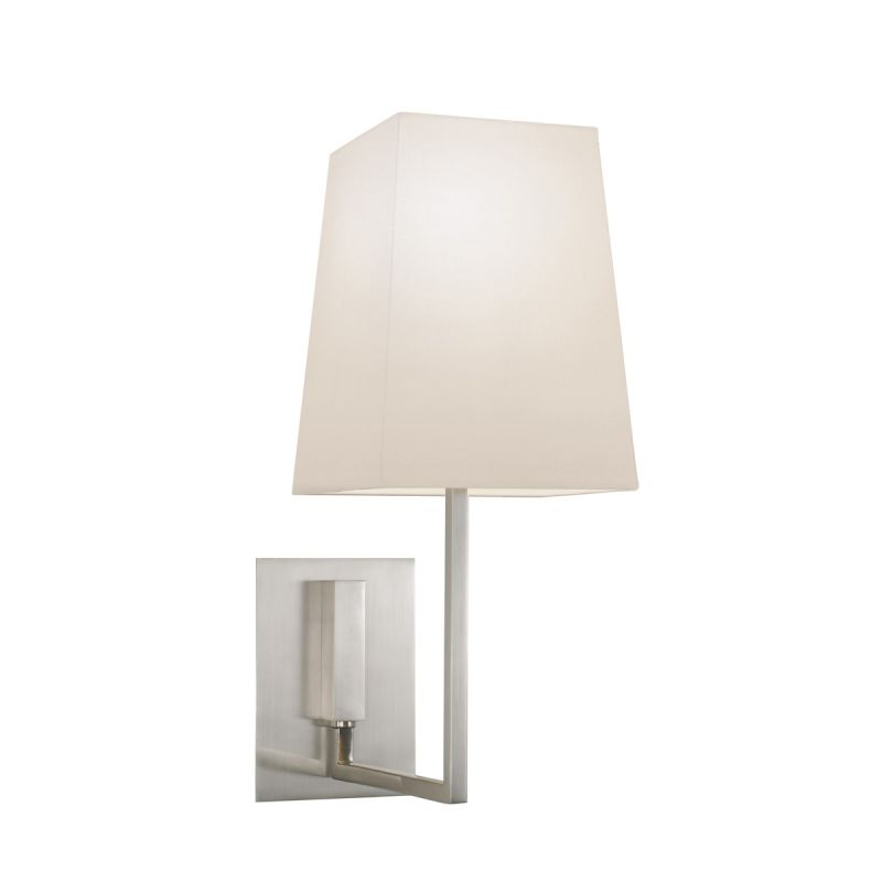 Sonneman 4445 Verso 1 Light Wall Sconce with White Linen Shade Satin