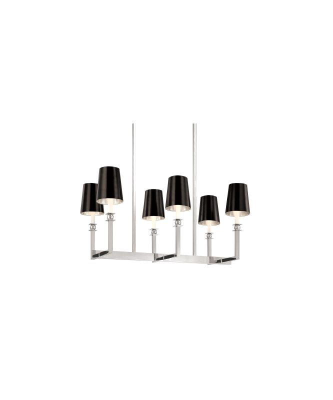 Sonneman 4456W Contemporary / Modern Six Light Rectangle Chandelier Sale $652.00 ITEM: bci571630 ID#:4456.09W UPC: 872681015648 :