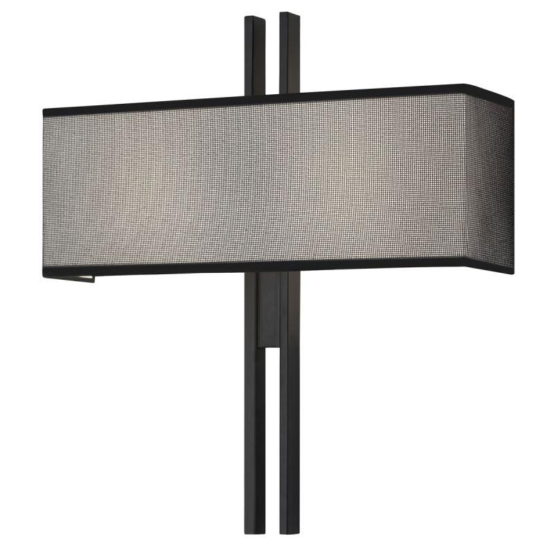 Sonneman 4522.25 Satin Black Contemporary Tandem Wall Sconce