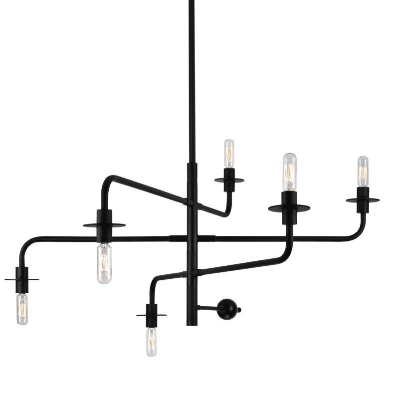 Sonneman 4546.25 Satin Black Industrial Atelier Chandelier