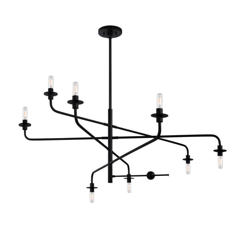 Sonneman 4548.25 Satin Black Industrial Atelier Chandelier